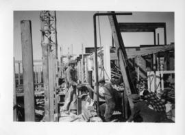 Photograph of the Arts & Administration Building construction