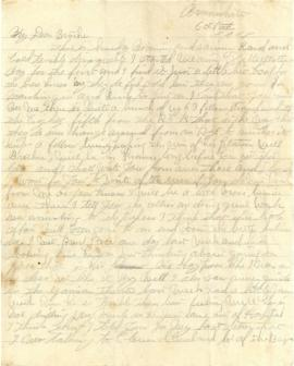 Letter from Weldon Morash to his brother Lloyd dated 6 October 1918