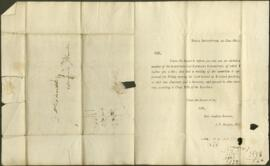 Two letters to James Dinwiddie from the Royal Institution