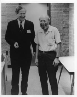 Photograph and a photographic negative of Kraft von Maltzahn and Gordon Riley