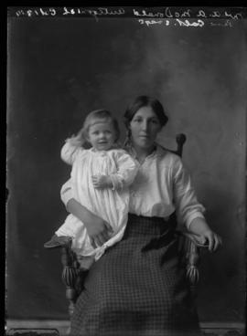 Photograph of Mrs. A.A. McDonald and her child