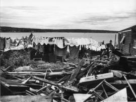 Photograph of a demolished building in Africville