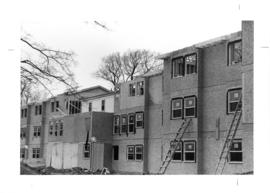 Photograph from the construction of Eliza Ritchie Hall