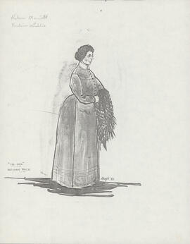 Costume design for Mafanwy Rice
