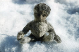Photograph of a handmade fur doll
