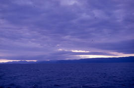 Photograph of the ocean and clouds near Newfoundland and Labrador