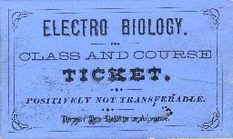 Ticket to an electro biology class and course