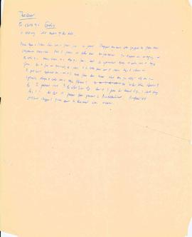 Miscellaneous handwritten notes from meeting on the United Nations Conference on the Law of the Sea