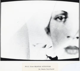 Photographic still from video Relative Activities by Paula Fairfield