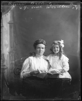 Photograph of Aggie Ballentyne and a girl