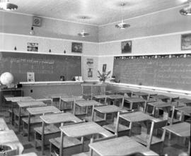 Photograph of a school room at either Thorburn, Greenwood or Pictou school