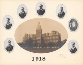 Composite Photograph of the Faculty of Medicine - Class of 1918