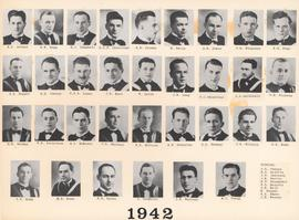Composite photograph of the Faculty of Medicine - Class of 1942
