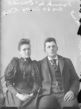 Photograph of Frank McDonald and unknown individual