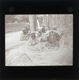 Photograph of a group of people with nets