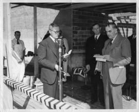 Photograph from the Arts & Administration Building cornerstone laying ceremony