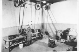 Photograph of grinding room at the Nova Scotia Technical College