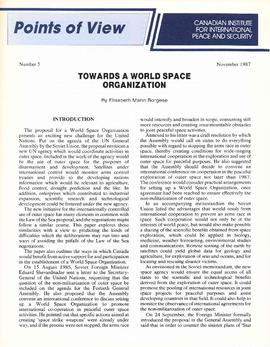 Towards a world space organization by Elisabeth Mann Borgese