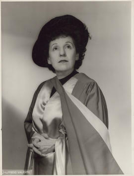 Photograph of Ellen Ballon for her honorary Doctor of Music from McGill University