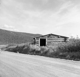 Photograph of a log cabin in the Yukon