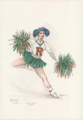 Costume design for Patti in cheerleading outfit