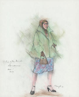 Costume design for Lorraine : Act I, scene III