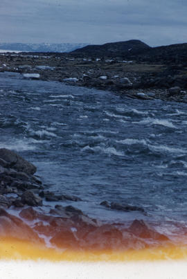 Photograph of a river near Frobisher Bay, Northwest Territories