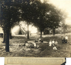 Photograph of Health Clinic No. 1 open air day camp