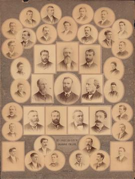 Photographic collage of the Dalhousie College arts faculty and class of 1891