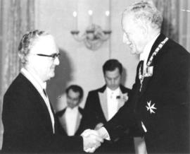 Photograph of Chester Bryant Stewart and Governor-General Roland Michener
