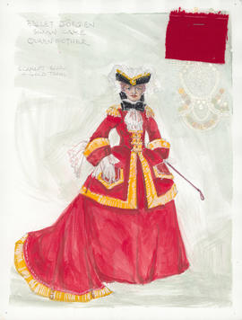 Costume design for Queen Mother