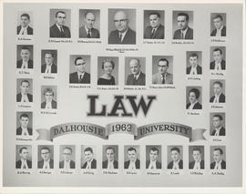 Composite photograph of Faculty of Law class of 1963
