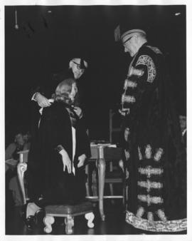 Photograph of Memorial University of Newfoundland, Faculty of Medicine's first Graduation ce...