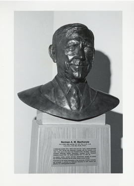Photograph of a bust of Norman A. M. MacKenzie