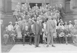 Photograph of delegates at the fifth annual Telephone Association of Canada convention in Halifax...