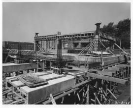 Photograph of the south view of the Killam Memorial Library construction