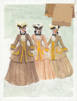 Costume design for Ladies in Waiting : Act 1