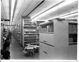 Photograph of a document storage area in the Killam Memorial Library