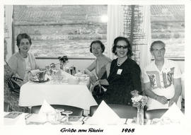Photograph of a Group on the Rhine at the International Council of Nurses Kongress June 1965