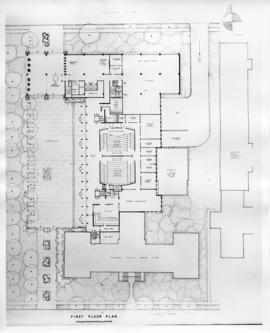Drawing of the layout of the first floor of the Sir Charles Tupper Medical Building