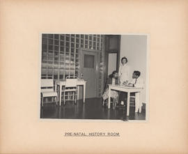 Photograph of Outpatient and Public Health Clinic, pre-natal history room