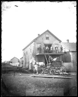 Photograph of the Spinning Wheel shop in New Glasgow