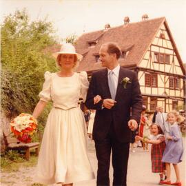 Photograph of Wolfgang Vitzthum's wedding