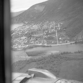 Aerial photograph of Dawson City, Yukon