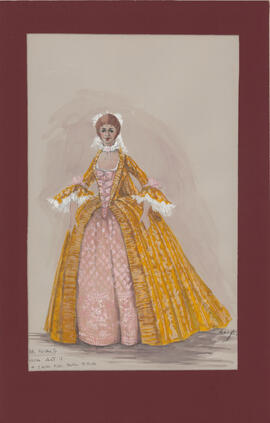Costume design for Julia : Act II