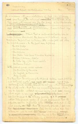 Preliminary editorial report on Haliburton's works November 1915 (copy 1)