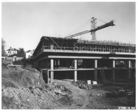 Photograph of the north west corner of the Killam Memorial Library construction