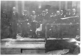 Photograph of a ceremony on the front steps on Halifax city hall