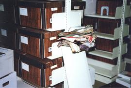 Photograph of fire damaged documents