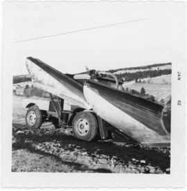 Photograph of a snowplow at Hunter River in Prince Edward Island